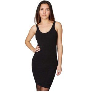American Apparel Black Nylon Bodycon Dress